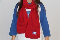 Fleece Scarf With Pockets | University Bookstore