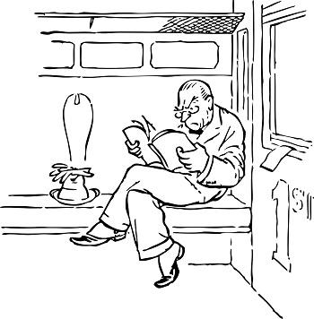 mezczyzna czyta