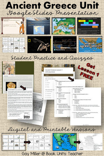 medium resolution of Ancient Greece Unit for Middle School   Book Units Teacher