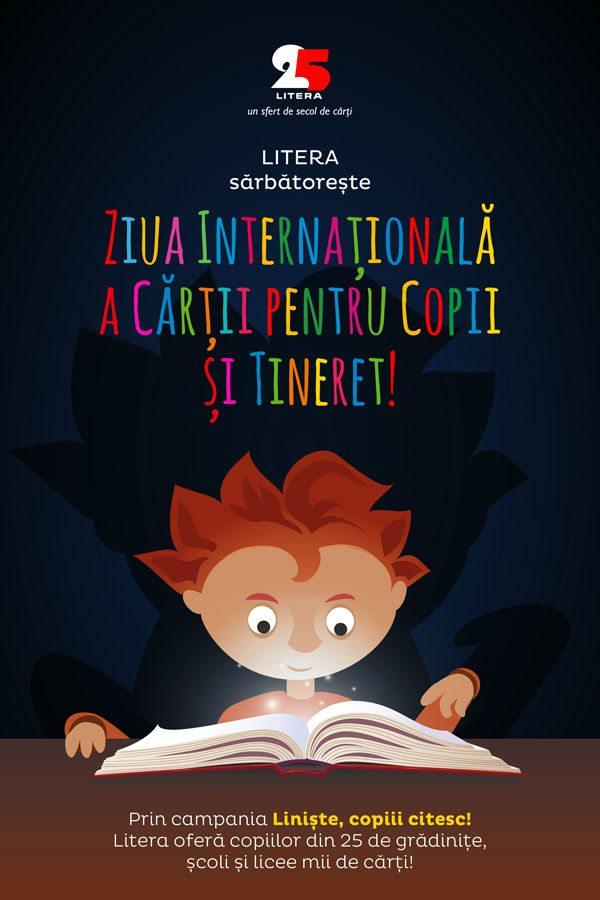 Litera sarbatoreste Ziua Internationala a cartii pentru copii si tineri
