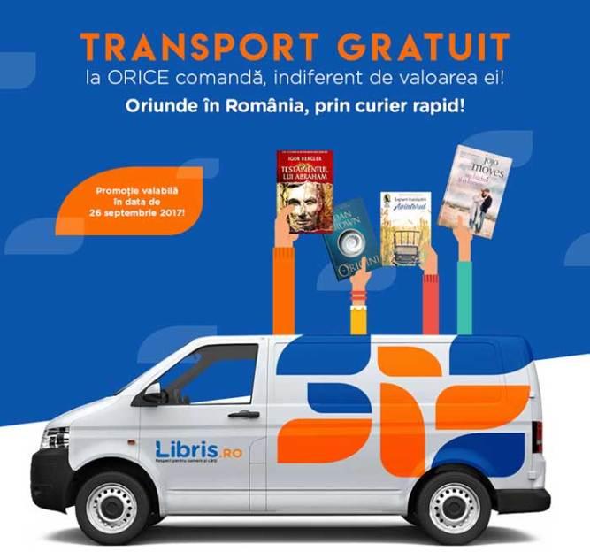 Transport gratuit la cărți
