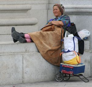 Homeless woman (photo by dbking)