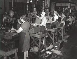 Factory girls during world war ii