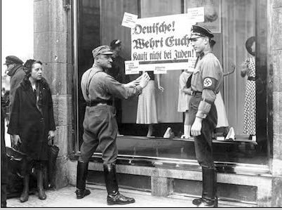 Nazis boycott Jewish stores