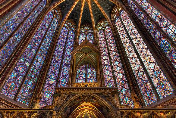 Interior Sainte-Chapelle, Paris