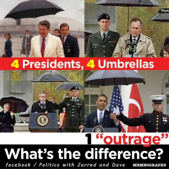 Umbrellas and presidents
