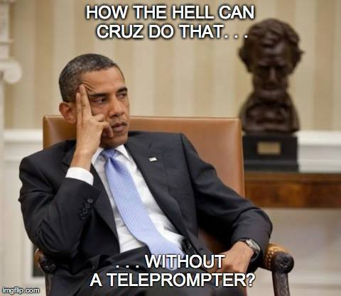 How does Cruz do it without a teleprompter