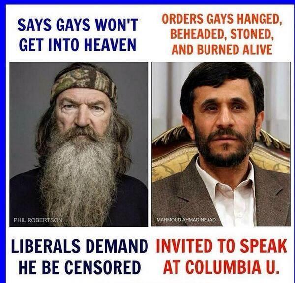 Comparing Robertson and Ahmadinejad