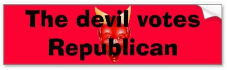 Devil votes Republican