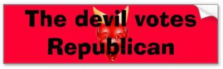 Devil votes Republican