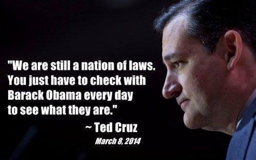 Cruz on obama's laws