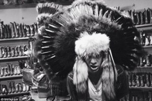 Harry Styles as an Indian Chief