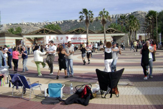 Dancing at Haifa Beach