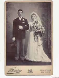 Victorian wedding photo