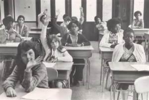 Desegregated classroom
