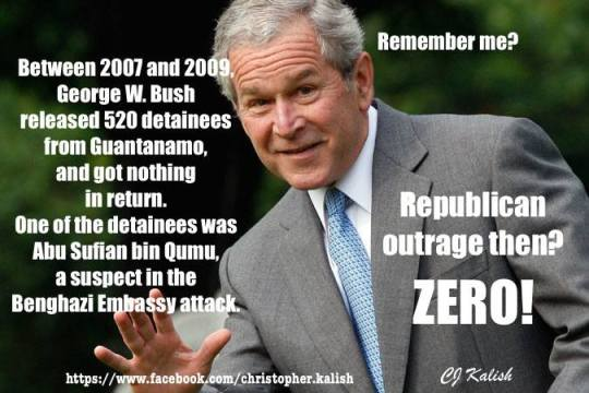 Bush released Gitmo detainees too