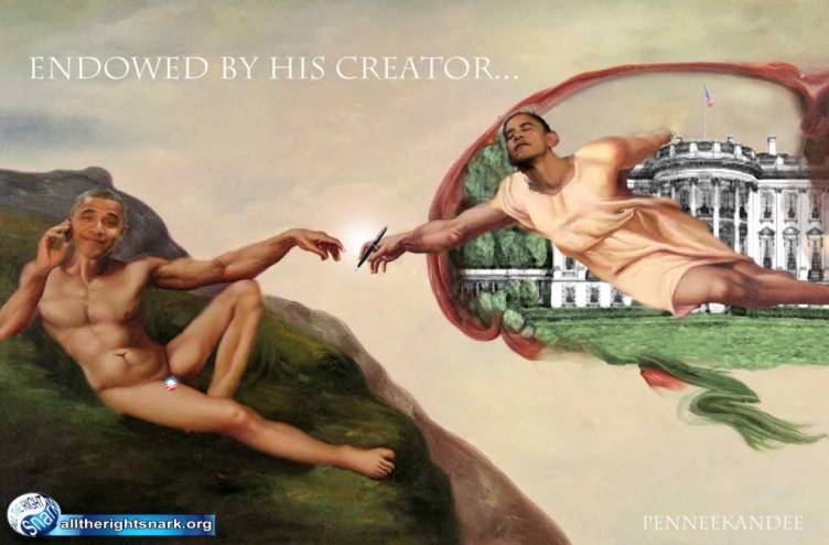 Obama endowed by his creator