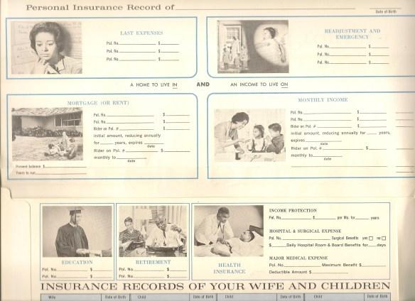 Black insurance folders