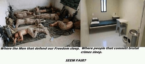 Fairness to troops and criminals