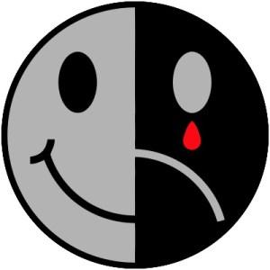 Happy face sad face