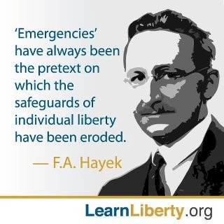 Hayek on emergencies