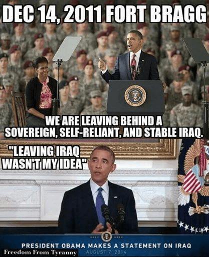 Obama tells tales about Iraq