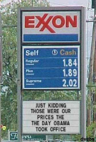 Gas prices when Obama took office