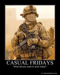 Military casual Friday