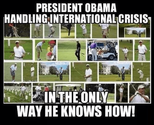Obama hits the links