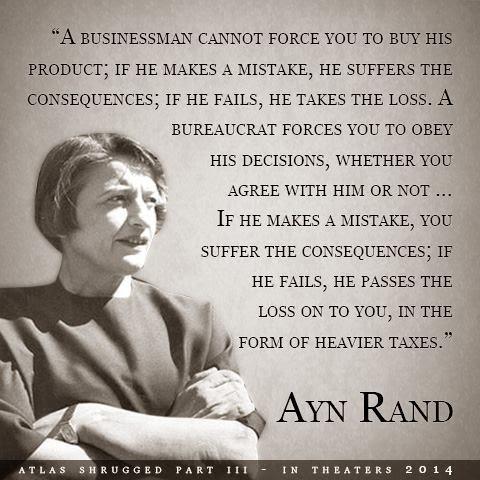 Ayn Rand on rule by bureaucrats