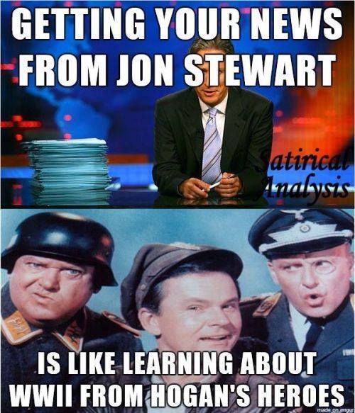 Getting your news from Jon Stewart and Hogan's Heroes