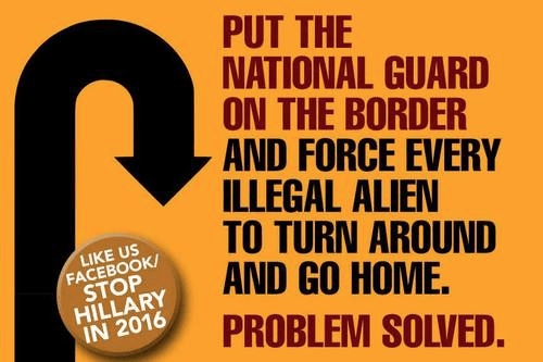 Put national guard on border