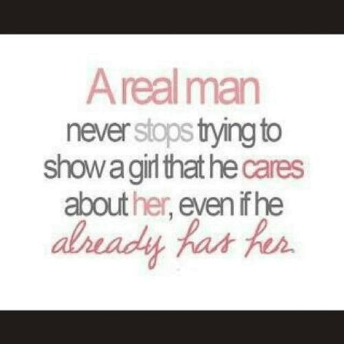 Real man keeps showing girl he cares