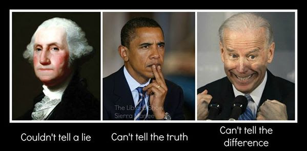 Washington Obama and Biden on the truth