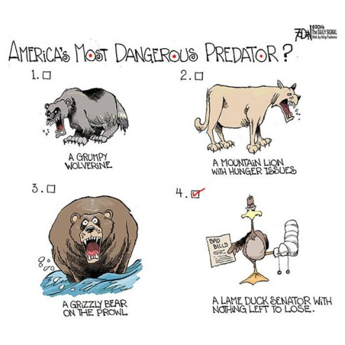 America's most dangerous predator is a lame duck senator