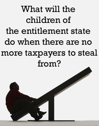 Entitlement state runs out of taxpayers