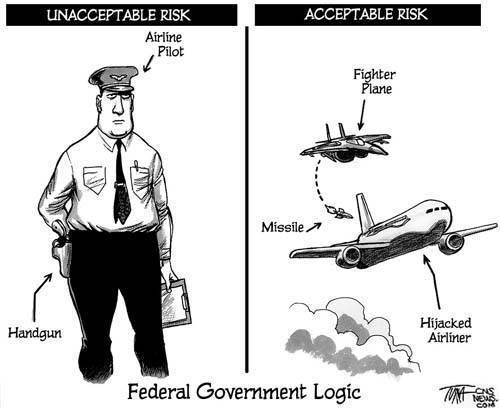 Federal government logic on hijacking