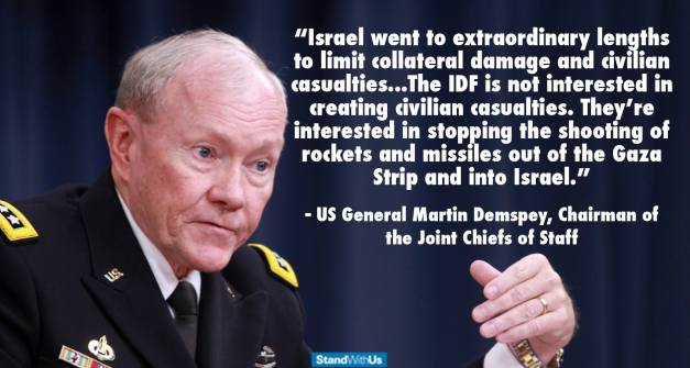General Martin Dempsey on Israel's restraint during war