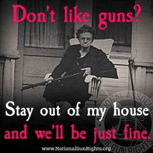 Guns protect house