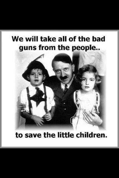 Hitler takes guns from people to save children
