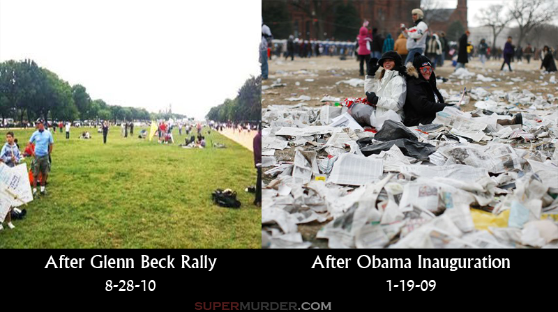 Mess after inauguration versus Glenn Beck rally