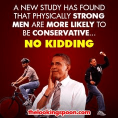 Physically strong men likely to be conservative