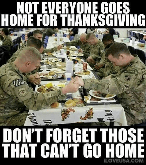 Remember the troops on Thanksgiving