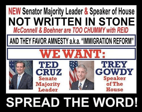Spread the word about Gowdy and Cruz for Congress leadership