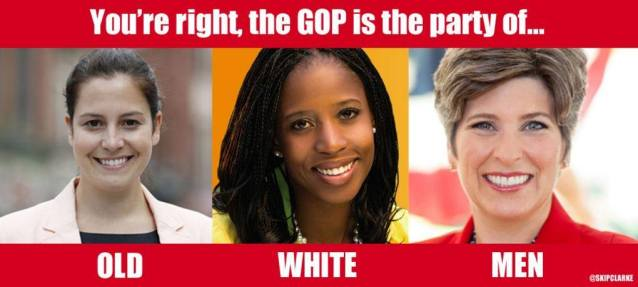 The GOP is the party of old white men NOT