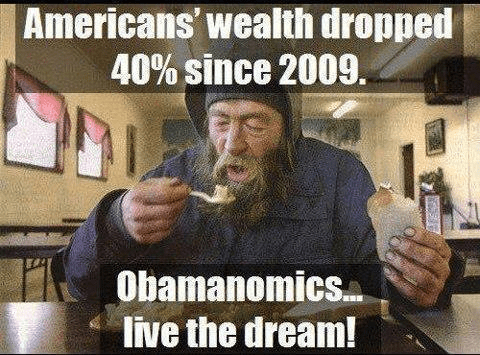 American wealth down by 40 percent since 2009