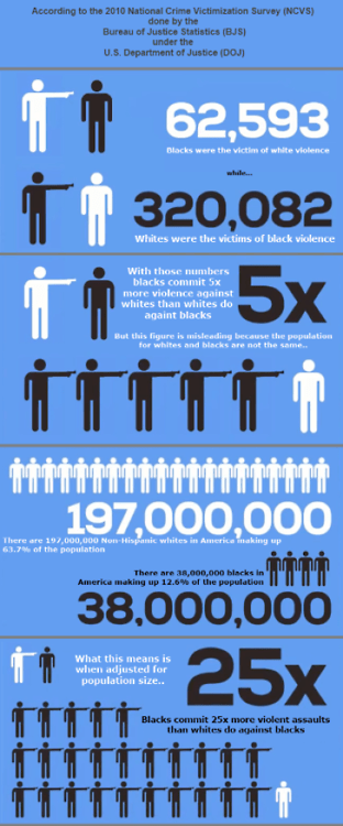 Black and white crime statistics