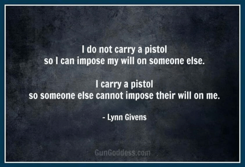 Gun rights Reason to carry a pistol