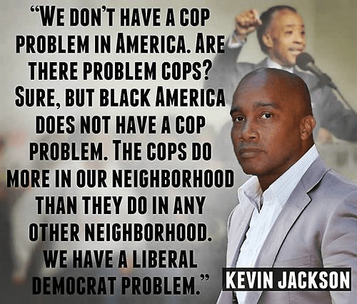 Kevin Jackson saying problem cops is not the same as a cop problem