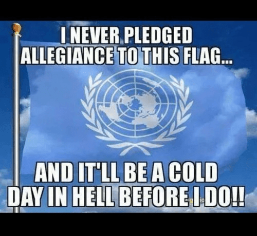 We never pledged allegiance to UN flag